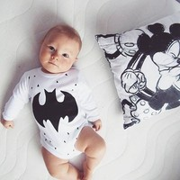 Newborn Baby Girl Boy Long Sleeve Bodysuits Cure Cartoon Print Cotton Jumpsuit Kids Clothes