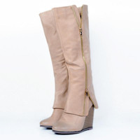 Size 34-47 Shoes   Ladies  Wedge High Heel Boots Knee Thigh High Suede Long Boot  Designer