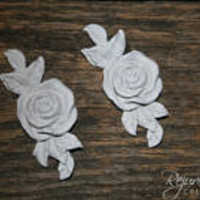 2 DIY rosettes shabby chic appliques furniture appliques architectural pieces onlays DIY interior design shabby chic home decor