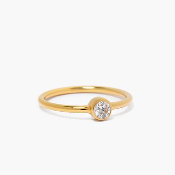 Clear CZ Band Ring
