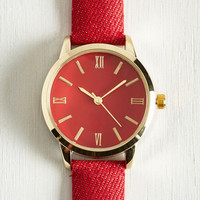 My Time has Come Watch in Scarlet by ModCloth