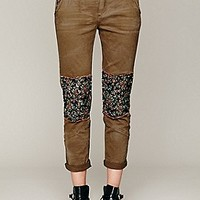 Ditsy Patched Twill Pant