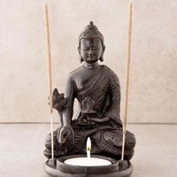 Medicine Buddha Incense and Candle Holder