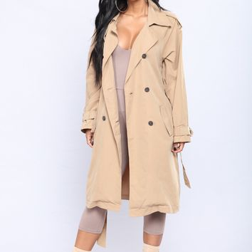 Picture Perfect Trench Coat - Camel