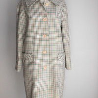 Vintage 1960s Houndstooth Rain Jacket , The Puget Sounder All Weather Coat by Item House