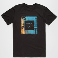 Rvca Skylines Mens T-Shirt Black  In Sizes