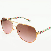 Flora Print Leg Sunglasses for Women BDB321f