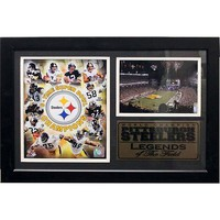 Pittsburgh Steelers Photo Stat Frame (Black)