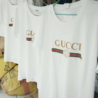 """""""Gucci""""Hot letters print T-shirt top H Z"""