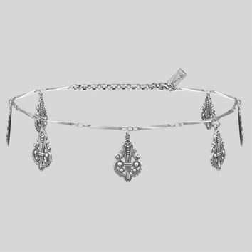 SPRUCE. Silver Charm Choker Necklace – REGALROSE   SHOP Fashion Jewellery & Accessories