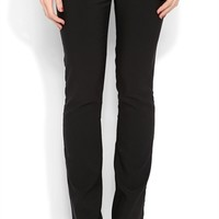 Black Dress Pants with a Double Belt Loops and Welt Pockets