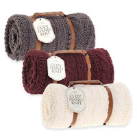 Berkshire Blanket® Cozy Cable Knit Throw