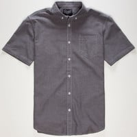 Retrofit Bert Mens Oxford Shirt Black  In Sizes