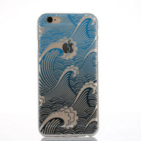 Originality Wave Lace iPhone 6 6s Case Ultrathin Transparent Cover Gift