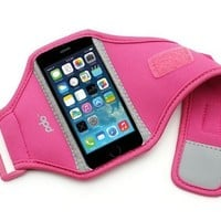 Sporteer Armband for iPhone SE and iPhone 5S/5C/5 - Strap Size Small/Medium - Pink