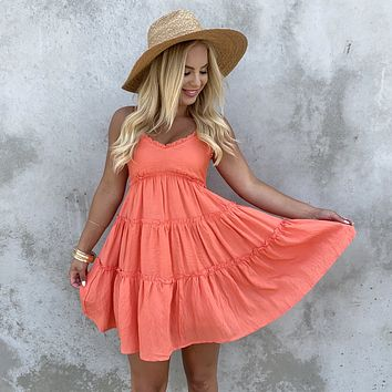 Feeling Loved Summer Dress in Orange