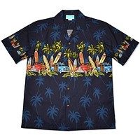 surf navy hawaiian border shirt