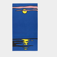 Roy Lichtenstein: Night Seascape Beach Towel