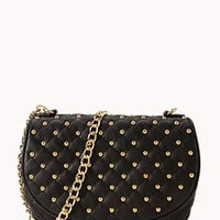 Studded Quilted Crossbody