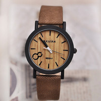 Deluxe Luxury Mens Wood Face Watch  -The Man Cave