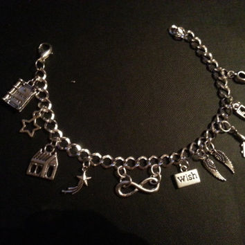 The Fault In Our Stars Inspired Full Charm Bracelet - 11 Charms