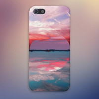 Geometric Lake x Blurred Sunset x Reflections Design Case for iPhone 6 6+ iPhone 5 5s 5c iPhone 4 4s and Samsung Galaxy s5 s4 & s3