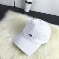 Sun Golf Casquette Rare Drake Southerns Tide Small Fish Hat 6 Panel White Snapback Hat Baseball Cap for Men Women