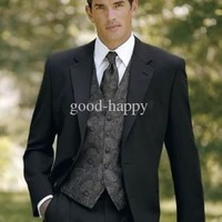 Top Quality Men's Wedding Tuxedos Prom Clothing Party Apparel (jacket+pants+tie+vest+shirt)4062