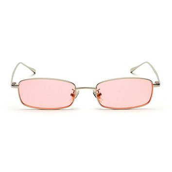 The Tiny Rectangle Sunglasses Pink