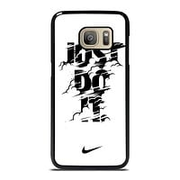 NIKE LOGO JUST DO IT GLITCH BLACK Samsung Galaxy S7 Case