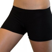 Solid Black Spandex Compression Shorts 3 Lengths