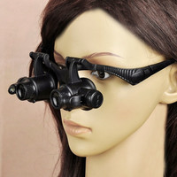 Watch Repair Glasses Eyewear Magnifier Loupe with LED 10X 15X 20X 25X Home & Tools H10196 = 1651240772