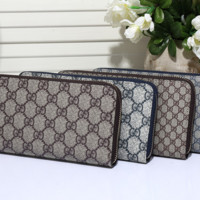 Gucci Long leather fashion Zipper Wallet [305771282461]