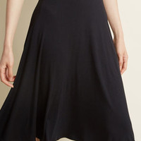 Excellence Attained Knit A-Line Skirt in Black