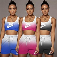 NIKE Women With short sleeves Top Pants shorts Two-Piece 1