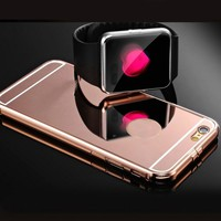 iPhone 6 Case JANDM Luxury Aluminum Ultra thin Mirror Metal Case Cover for A...
