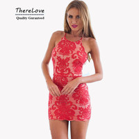 Hight quality halter neck summer sexy short lace dress plus size backless scalloped elegant bodycon dress for party wedding club