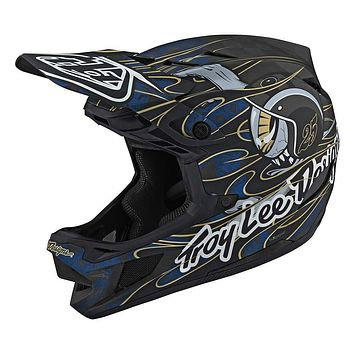 Troy Lee Designs Adult | Limited Edition | BMX | Downhill Mountain Bike D4 Carbon Eyeball Helmet Blue X-Large