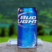 Blue Can Bud Light Beer - Photo Print in Hard Case - For iPhone 4 / 4s Case , iPhone 5 Case - White Case, Black Case (CHOOSE OPTION )