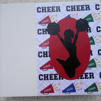 6x6 Brightly Colored Cheer Scrapbook Photo Album