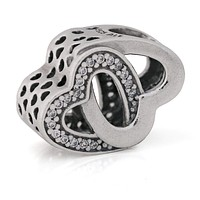 Pandora Entwined Love Hearts Sterling Silver Charm  791880CZ