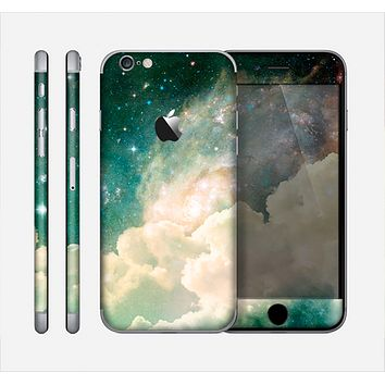 The Cloudy Abstract Green Nebula Skin for the Apple iPhone 6