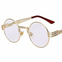 Round Gold Framed Tinted Glasses