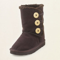 suede toggle boot