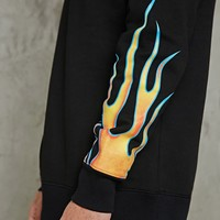 Flame Graphic Hoodie