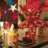 2016 Xmas String Hanging Star Christmas Party Decoration Christmas Tree Ornament