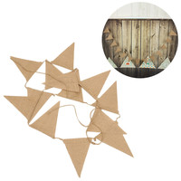 Jute Hessian Burlap Bunting Wedding party crafts Christmas wedding party decorated Azabu pennants Banner 13 Flags