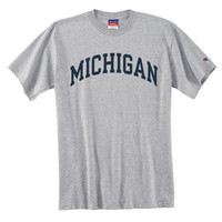 Champion University of Michigan Oxford Gray Basic Arch Tee