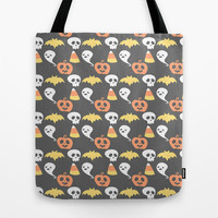 Adorable Halloween Pattern Tote Bag by Adorkible