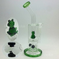 Two functions Male Jiont Funny Cute Frog on Honeycomb weels Animal Water Bong Pipes Smoking Oil Rigs Smoking Accessories Filter dab Bongs